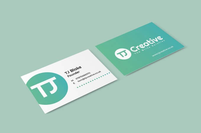 TJ Creative business card - TJ Blake, Founder