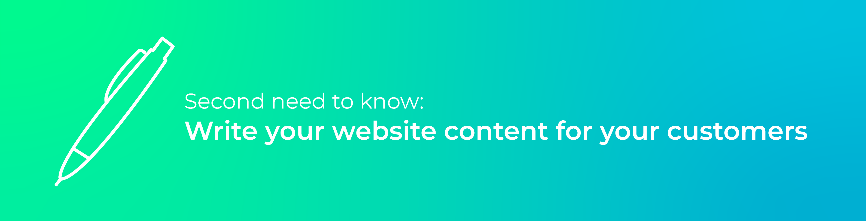 Second need to know - website content