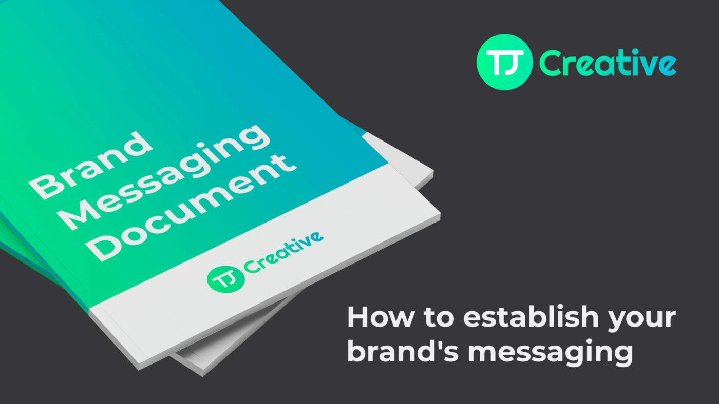 Brand messaging document - TJ Creative