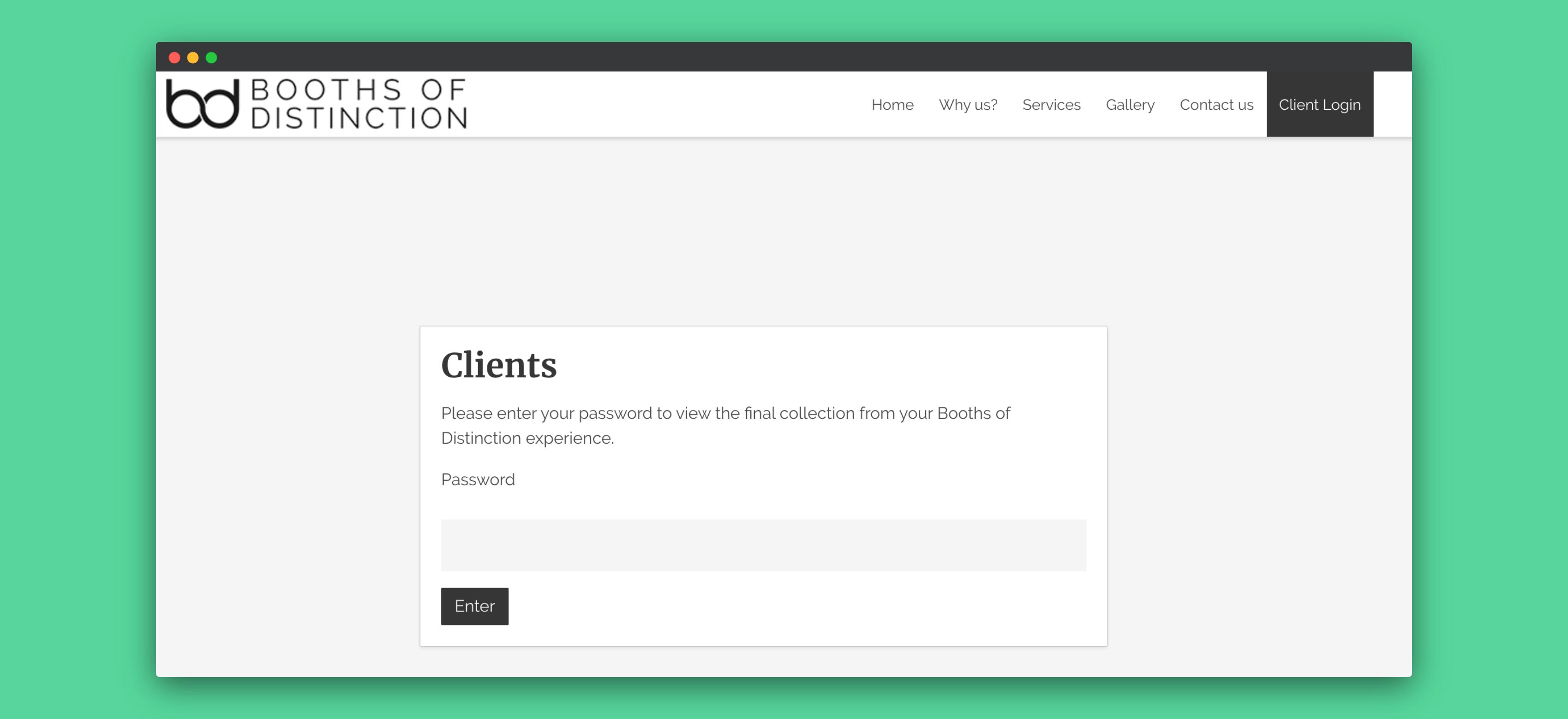 Website development - client portal