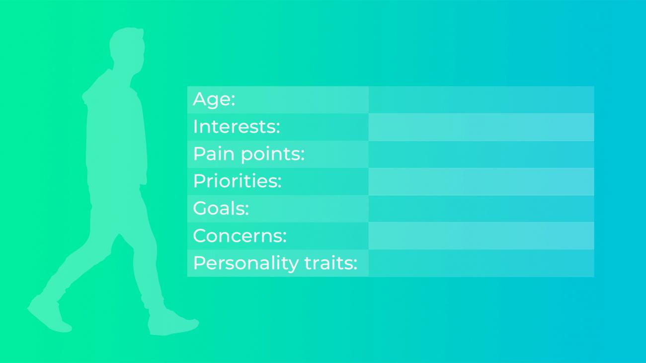Customer persona template - Brand messaging