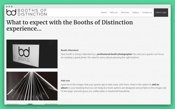 Website design & content strategy BoD