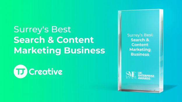 Best Search and Content Marketing Business Surrey award