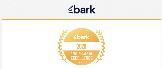Web content writer Certificate of excellence Bark.com
