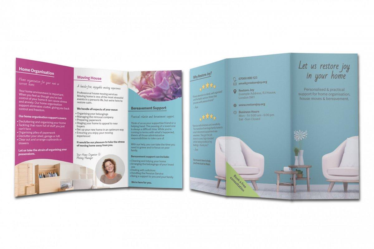 Leaflet copywriting & design