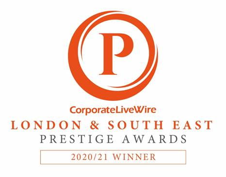 Content Writing Service of the Year Winner London & South East Prestige Awards 2020:21 Winner