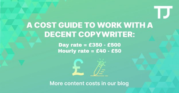 The cost to work with a copywriter - Freelance writer cost guide
