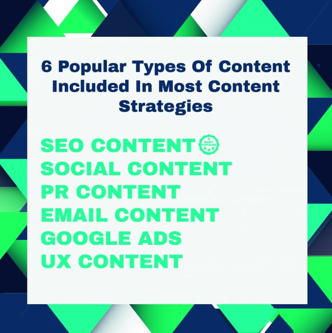 6 popular types of content in a content strategy