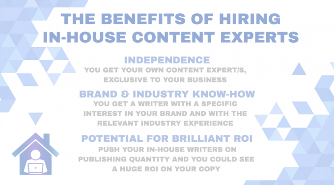 Hiring content experts in-house