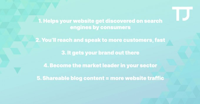 How blogging helps your business - 5 pros